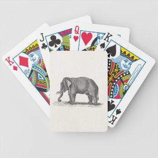 Vintage 1800s Elephant Illustration - Elephants Bicycle Playing Cards
