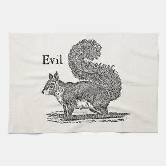 Vintage 1800s Evil Squirrel Illustration Tea Towel