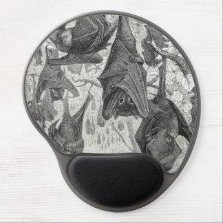 Vintage 1800s Flying Fox Bat Retro Template Bats Gel Mouse Mat