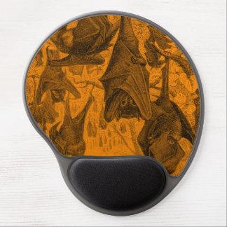 Vintage 1800s Flying Fox Bat Retro Template Orange Gel Mouse Mat