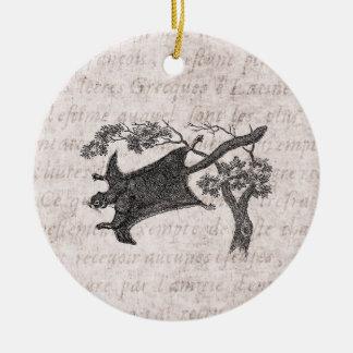 Vintage 1800s Flying Squirrel - Sugar Glider Christmas Ornament