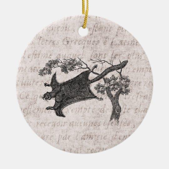 Vintage 1800s Flying Squirrel - Sugar Glider Christmas