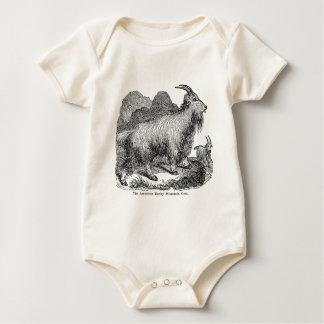 Vintage 1800s Goats American Rocky Mountain Goat Baby Bodysuit