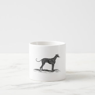 Vintage 1800s Greyhound Dog Illustration - Dogs Espresso Cup