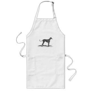 Vintage 1800s Greyhound Dog Illustration - Dogs Long Apron