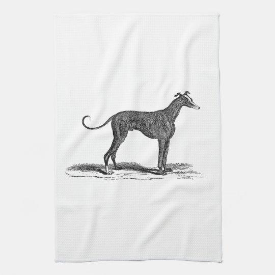 Vintage 1800s Greyhound Dog Illustration - Dogs Tea