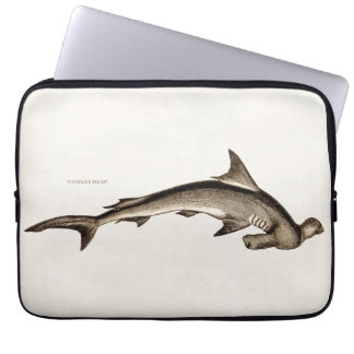 Vintage 1800s Hammerhead Shark Old Hammer Head Laptop Sleeve