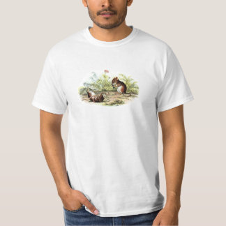 Vintage 1800s Harvest Mouse Illustration Mice T-Shirt