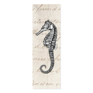 Vintage 1800s Hawaiian Sea Horse Illustration Business Card Templates