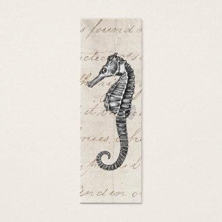 Vintage 1800s Hawaiian Sea Horse Illustration Mini Business Card