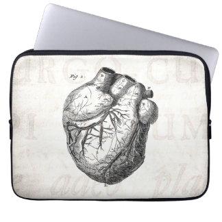 Vintage 1800s Heart Retro Cardiac Anatomy Hearts Laptop Sleeve