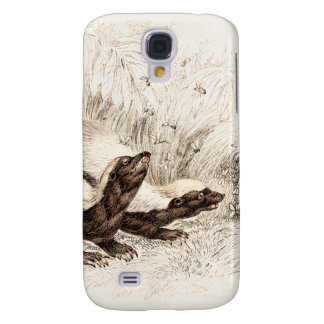 Vintage 1800s Honey Badger Bee Hive Template Retro Galaxy S4 Case