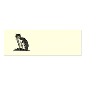 Vintage 1800s House Cat Illustration - Cats Business Card Templates
