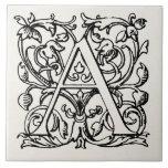 Vintage 1800s Letter A Monogram - Monogrammed 'A'