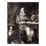 Vintage 1800s Lord Byron Portrait Victorian Poet