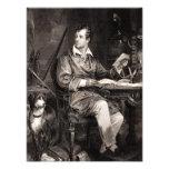 Vintage 1800s Lord Byron Portrait Victorian Poet Photo Art