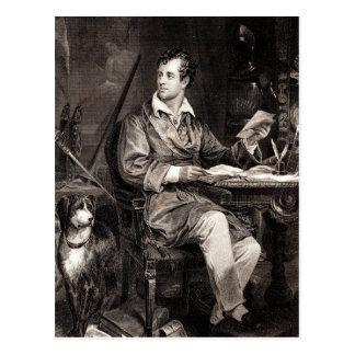 Vintage 1800s Lord Byron Portrait Victorian Poet Postcard
