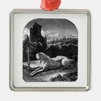 Vintage 1800s Loyal Greyhound Dog Christmas Ornament