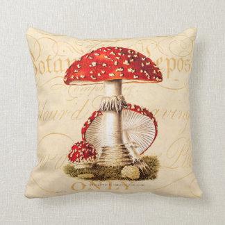 Vintage 1800s Mushroom Red Mushrooms Template Cushions