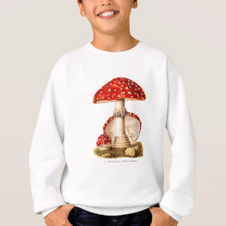 Vintage 1800s Mushroom Red Mushrooms Template Sweatshirt