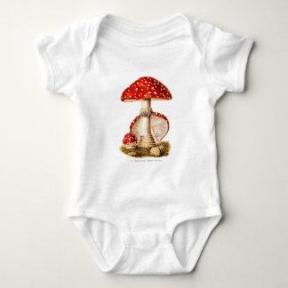 Vintage 1800s Mushroom Red Mushrooms Template Tee Shirt