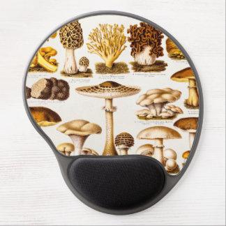 Vintage 1800s Mushroom Variety Template Gel Mouse Mat