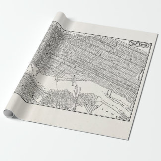 Vintage 1800s New York City Brooklyn Map NYC Maps Wrapping Paper