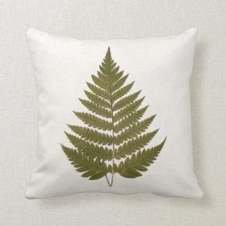 Vintage 1800s Olive Green Fern Leaf Template Cushion