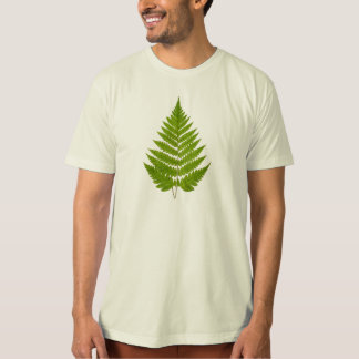 Vintage 1800s Olive Green Fern Leaf Template T-Shirt