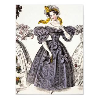 Vintage 1800s Paris Fashion - French Dresses & Hat Photo