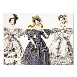 Vintage 1800s Paris Fashion - French Dresses & Hat Photo Art