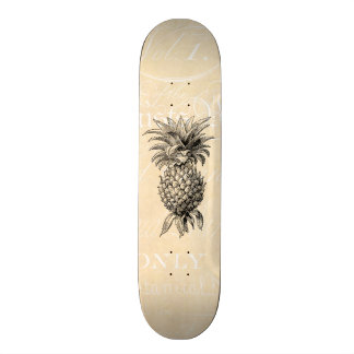 Vintage 1800s Pineapple Illustration Pineapples 21.3 Cm Mini Skateboard Deck