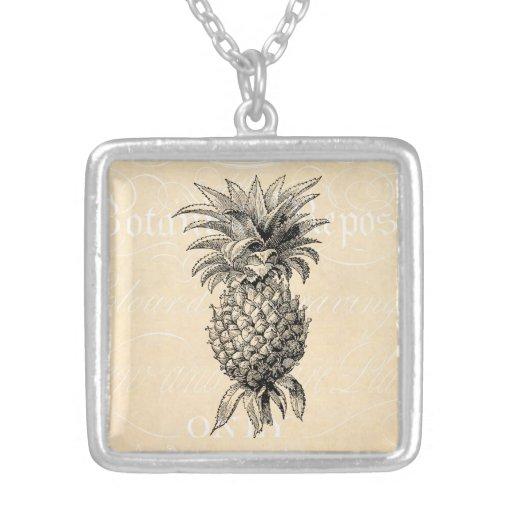 Vintage 1800s Pineapple Illustration Pineapples Pendants