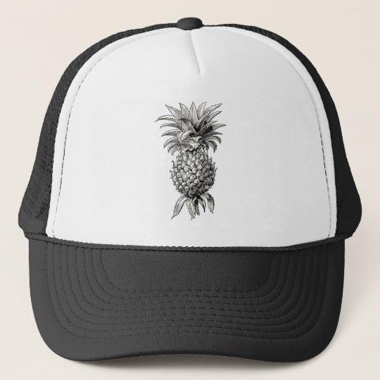 Vintage 1800s Pineapple Illustration Pineapples Trucker Hat