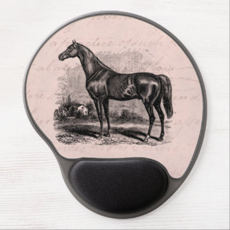 Vintage 1800s Race Horse Retro Thoroughbred Horses Gel Mouse Pad