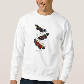 Vintage 1800s Red and Black Butterflies Template Sweatshirt