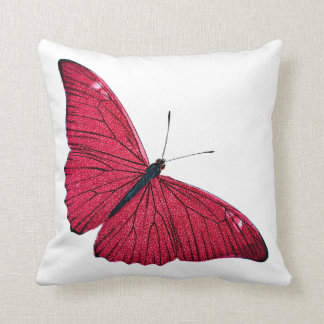 Vintage 1800s Red Butterfly Illustration Template Cushion