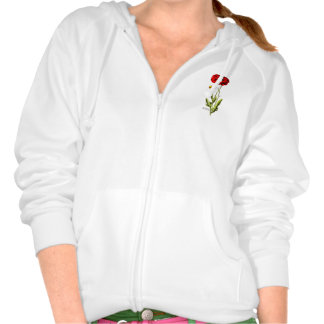 Vintage 1800s Red Poppy Wild Flower Floral Opium Hooded Sweatshirts