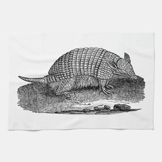 Vintage 1800s Retro Armadillo Antique Armadillos Tea Towel