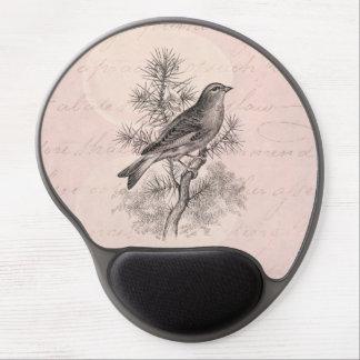 Vintage 1800s Rose Linnet Song Bird Finch Birds Gel Mouse Mat