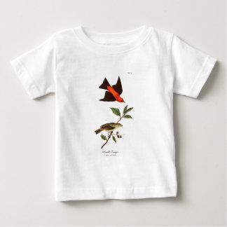 Vintage 1800s Scarlet Tanager Bird Songbird Birds Baby T-Shirt