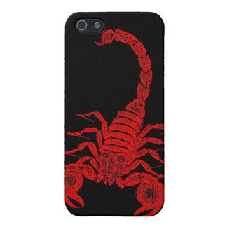 Vintage 1800s Scorpion Illustration Red Scorpions Cover For iPhone 5