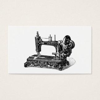 Vintage 1800s Sewing Machine Illustration Business Card