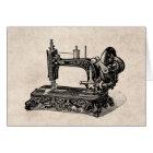 Vintage 1800s Sewing Machine Illustration Card