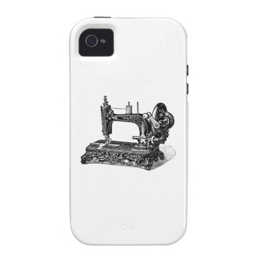 Vintage 1800s Sewing Machine Illustration iPhone 4 Cover