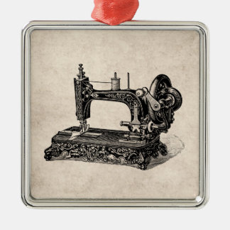 Vintage 1800s Sewing Machine Illustration Christmas Ornament