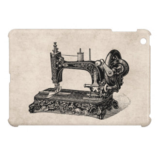 Vintage 1800s Sewing Machine Illustration Cover For The iPad Mini