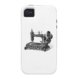 Vintage 1800s Sewing Machine Illustration iPhone 4 Covers