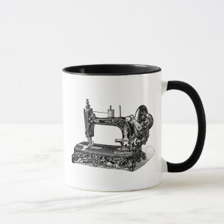 Vintage 1800s Sewing Machine Illustration Mug