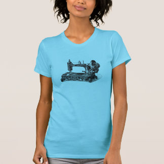 Vintage 1800s Sewing Machine Illustration T-Shirt